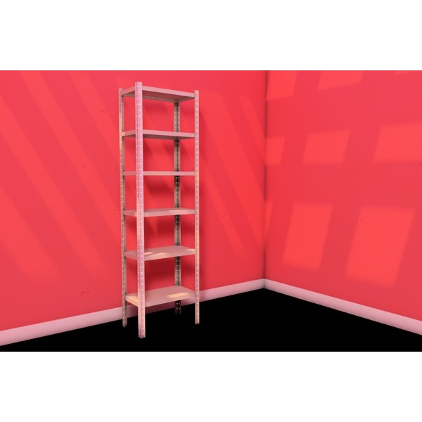 СТФ Стеллаж для офиса 6 полок 700х400 мм 125 кг/п высота 2,5м