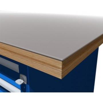 Столешница из фанеры с металлическим настилом 4 мм