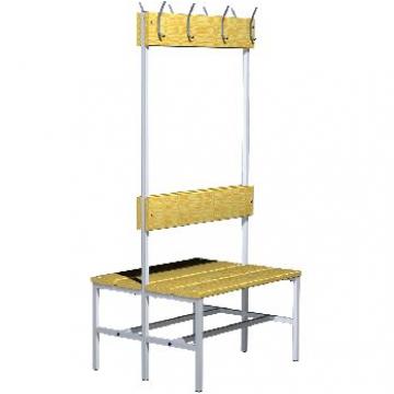 Вешалка со скамейкой для раздевалки 03.523
