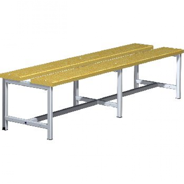 Скамейка металлическая для раздевалки 03.502