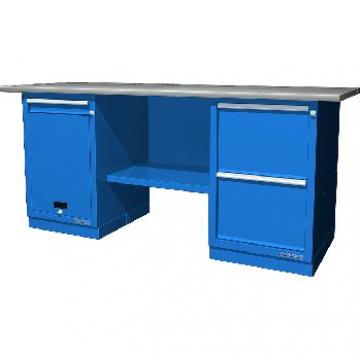 Верстак двухтумбовый с дверцей и ящиком и с 2 ящиками