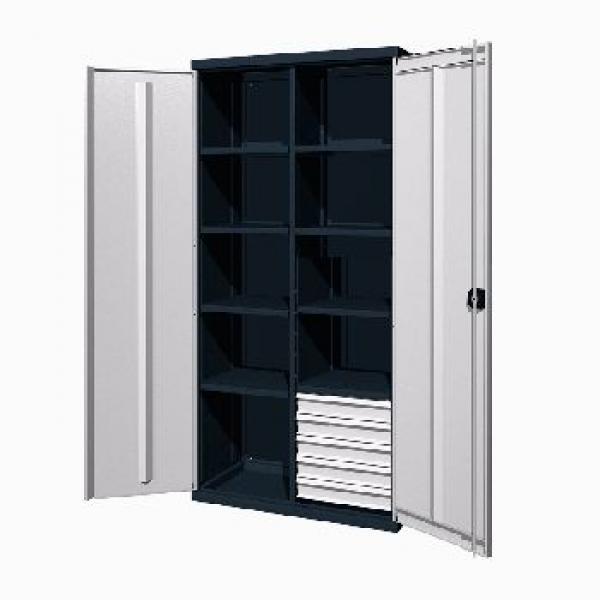 Инструментальный шкаф с 5 ящиками и 8 полками 03.3508