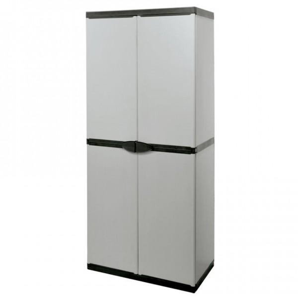 Шкаф для гаража пластиковый с 3 полками 1680х680х390 мм ES7811