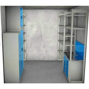 Набор мебели для кладовой размером 2700х2000х3000 мм.
