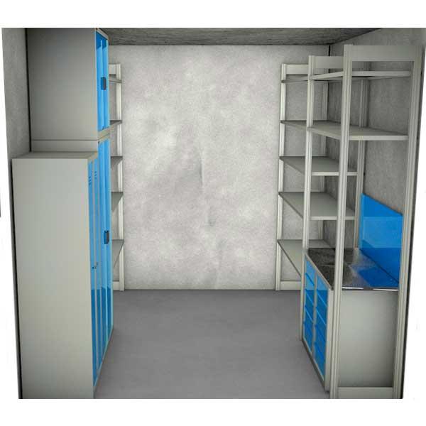 Набор мебели для кладовой размером 2700х2000х3000 KD01