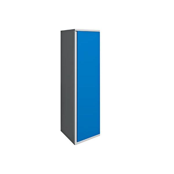 Одностворчатый шкаф с полками металлический 12-01