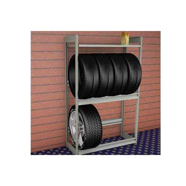 Стеллаж для колес 1200х500х2000 (2 ярус и 2 полки) SK20122