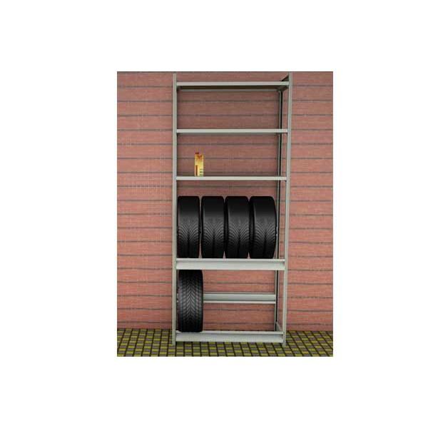 Стеллаж для колес 1000х500х2500 (2 яруса и 3 полки) SK25102