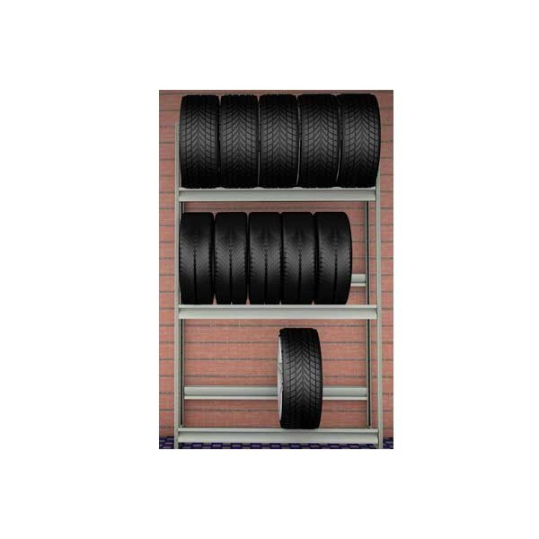Стеллаж для колес 1500х500х2500 (3 яруса) SK25153