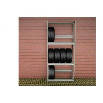 Стеллаж для колес 1000х500х2500 (3 яруса и 1 полкой)