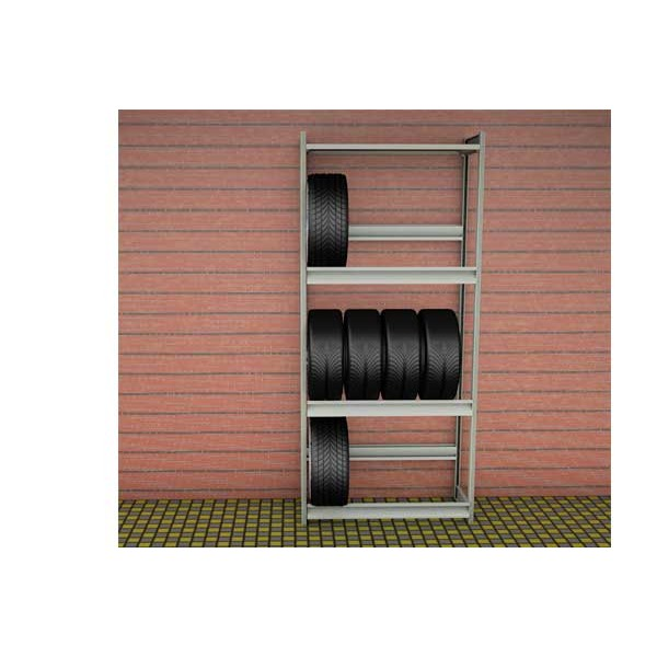 Стеллаж для колес 1000х500х2500 (3 яруса и 1 полкой) SK25103