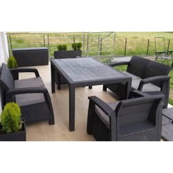 Набор садовой мебели из искусственного ротанга CORFU FIESTA SET производства Keter