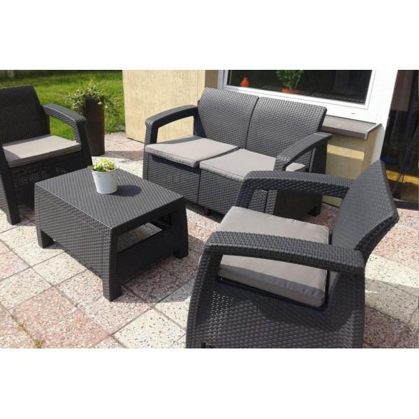 Набор пластиковой мебели Corfu set производства KETER
