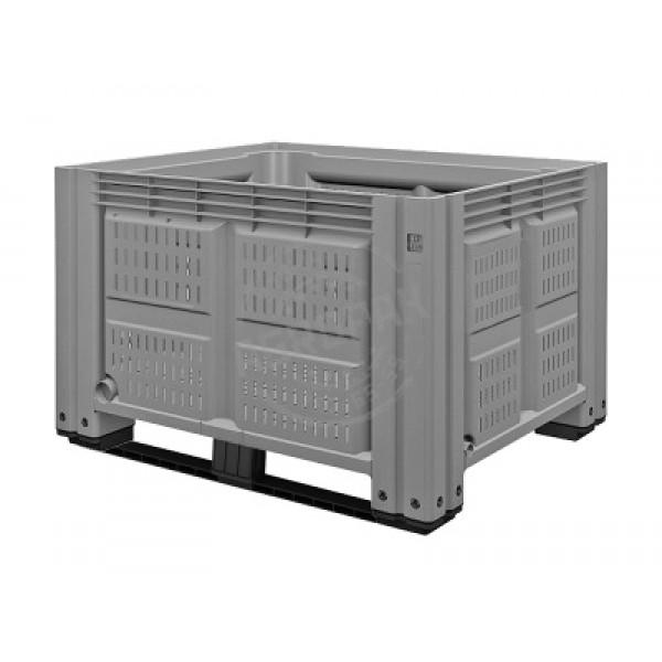 Перфорированный контейнер IBOX 1200х1000х780 мм на двух лыжах.