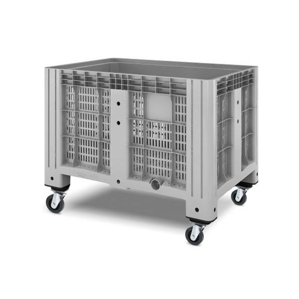 Перфорированный контейнер iBox 11.602.91.PE.C13 на 4-х поворотных колесах