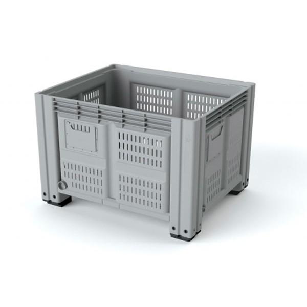 Перфорированный контейнер IBox на ножках 1130х1130х760 мм
