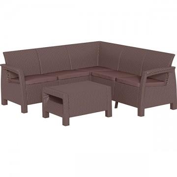 Угловой пластиковый диван CORFU RELAX