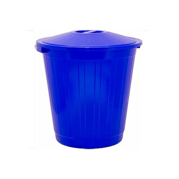Пластиковый мусорный бак с крышкой 105 литров