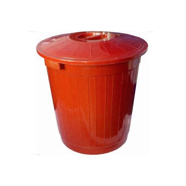 Пластиковый мусорный бак с крышкой 150 литров