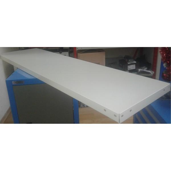 Металлическая полка для металлического стеллажа СТФ шириной 1500 мм глубина 300мм