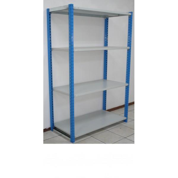 Стеллаж для гаража легкосборный на зацепах высота 2 м 4 полки 1200х500 мм 150 кг/п