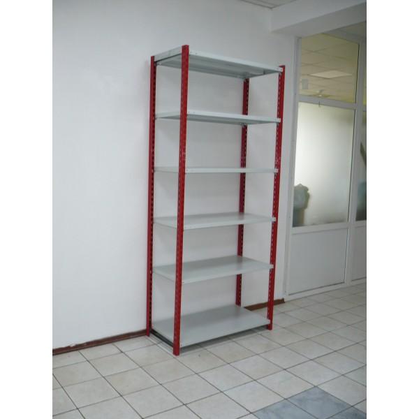Железный стеллаж для гаража на зацепах 6 полок 100х50 высота 240см нагрузка 150кг/п