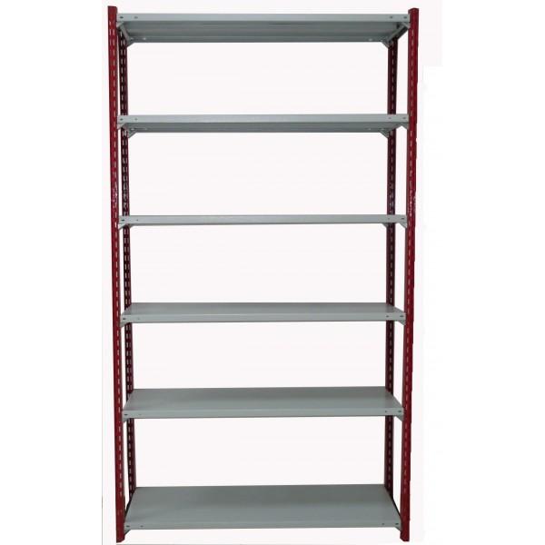 Легкосборный стеллаж для гаража со стойками Феррум высотой 2,4 м 6 полок 1200х500 мм 150кг/п