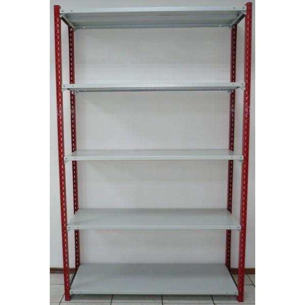 Стеллаж для гаража с нагрузкой 1800кг 5 полок 1500х500 мм 150кг/п высота 2400 мм