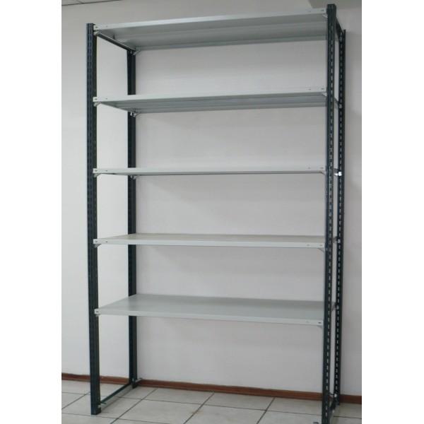 Стеллаж для гаража со стойками Феррум 270х156х50 см 5 полок с зацепами 150 кг/п нагрузка 1800 кг