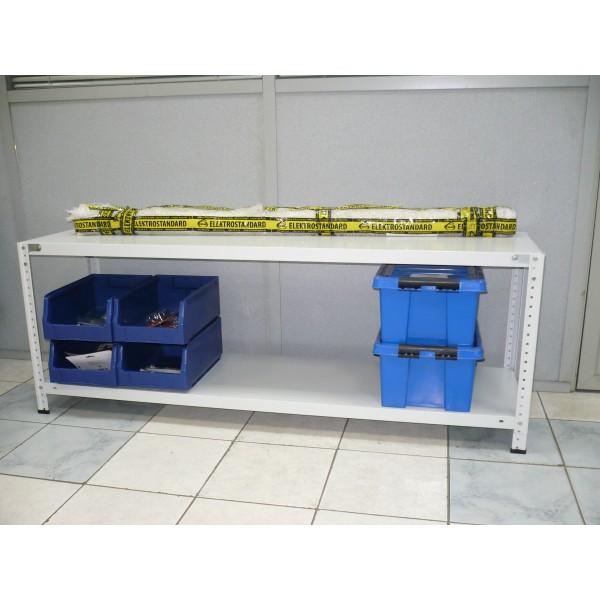 Мини-стеллаж высота 550 мм 2 полки 1500х400 мм