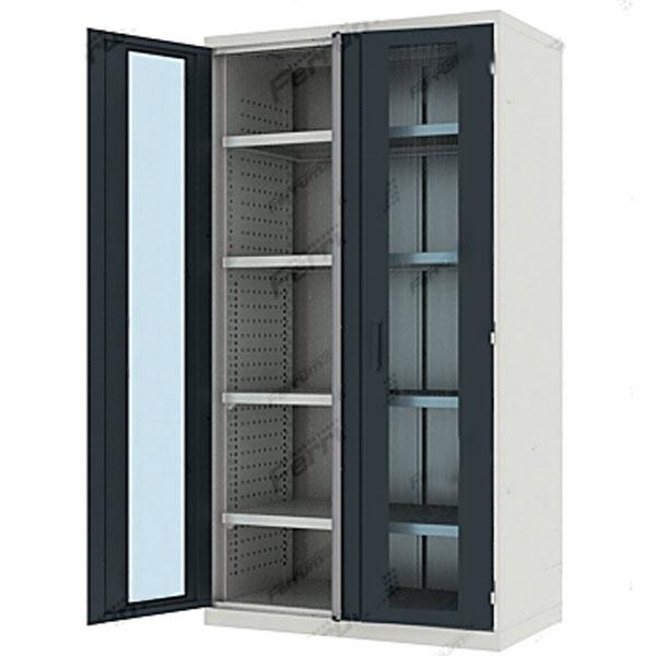 Шкаф усиленный со стеклянными дверцами высотой 1950 мм 43.2201