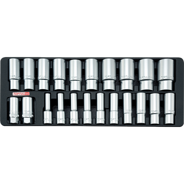 Ложемент набор головок глубоких 1/2` 22 пр.  8-32 мм TOPTUL GAAT2202