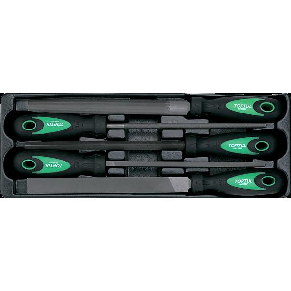 Ложемент набор напильников 5 пр.  200 мм TOPTUL GBAT0501