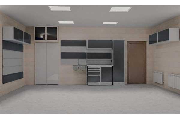 гараж с перфорированными панелями