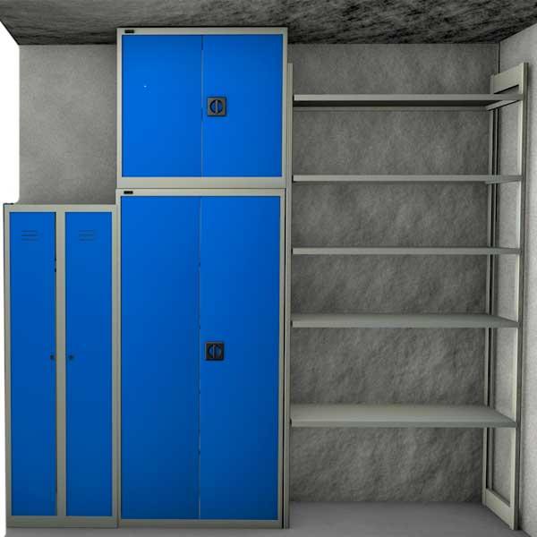 шкаф металлический в кладовой